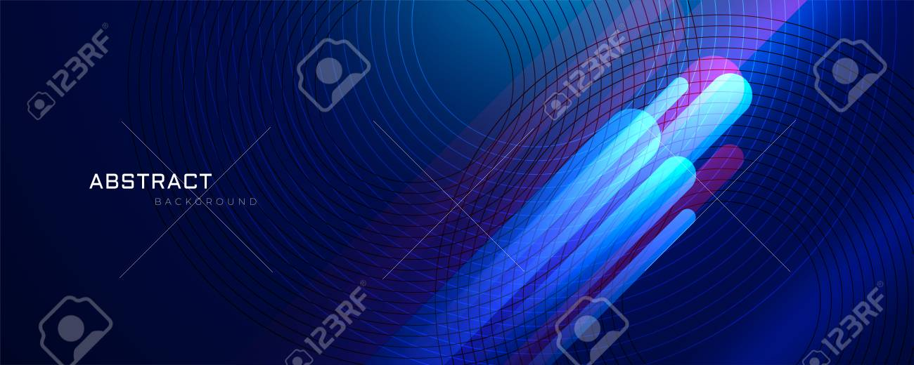 abstract blue background with glowing lines - 109817937