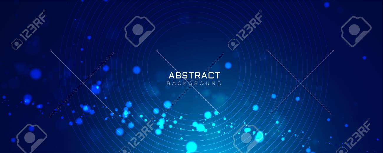 blue background with glowing dots bokeh style - 109817939