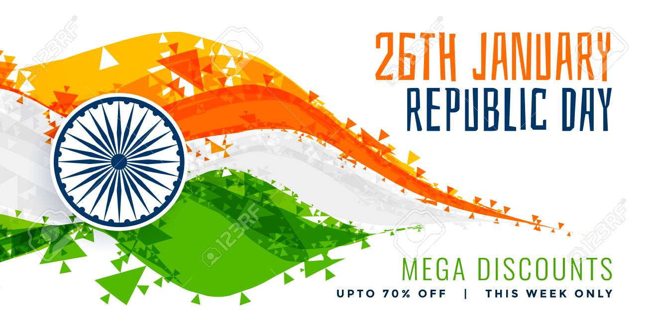 abstract style indian flag design for republic day - 114841205