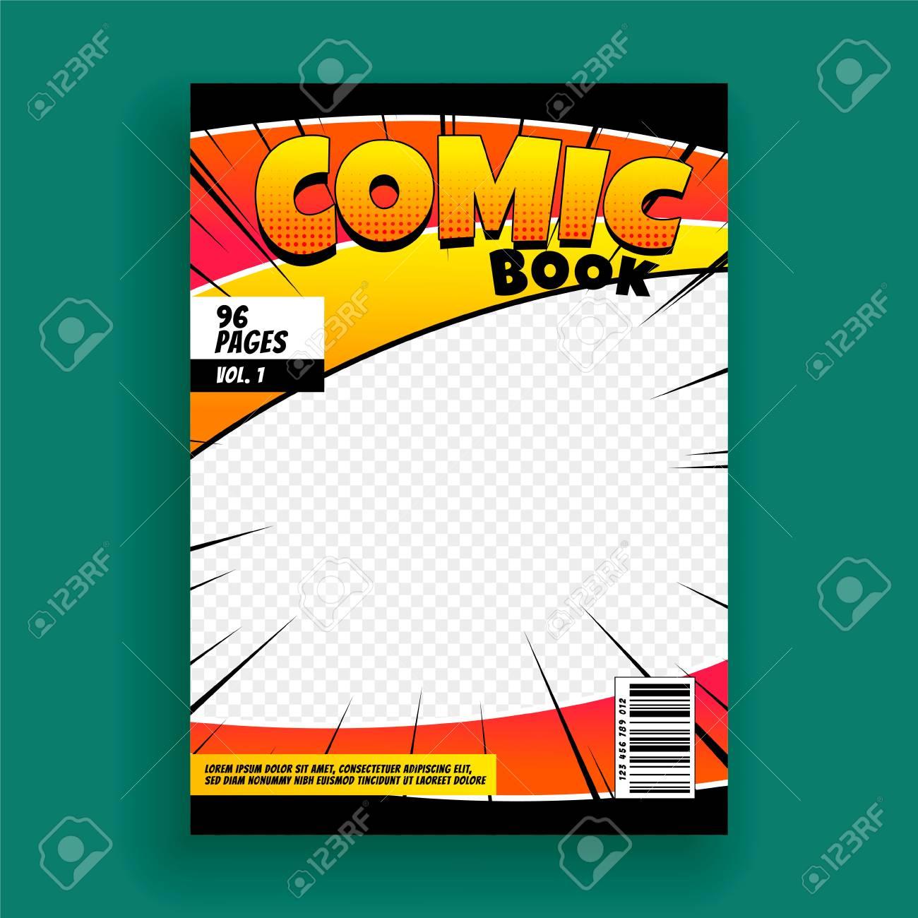 Comic Book Magazine Cover Page Design Template