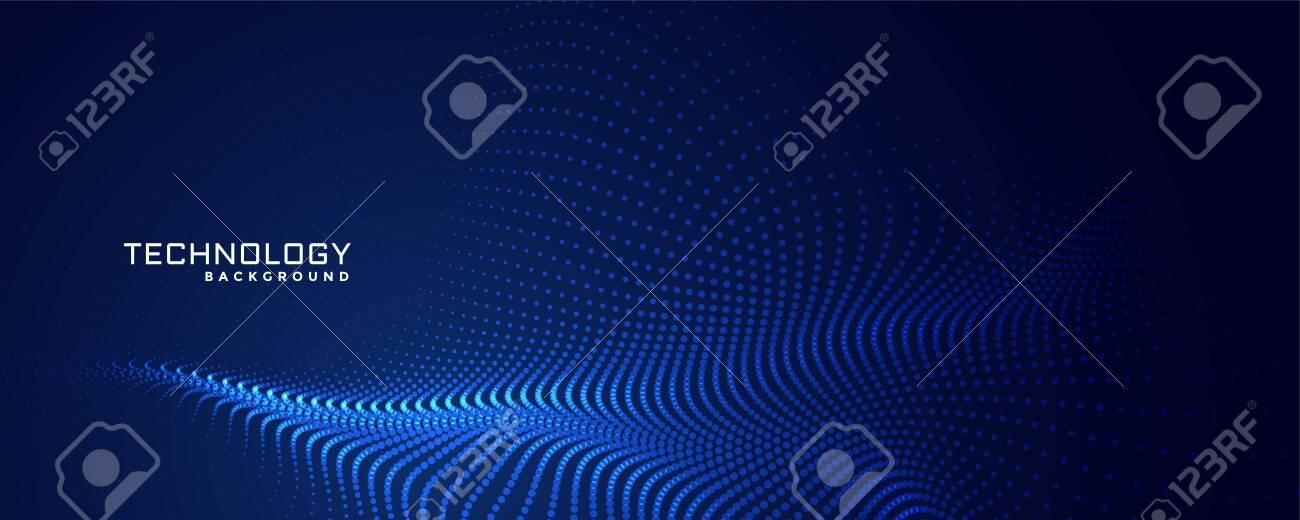 technology particles dots background design - 120098208