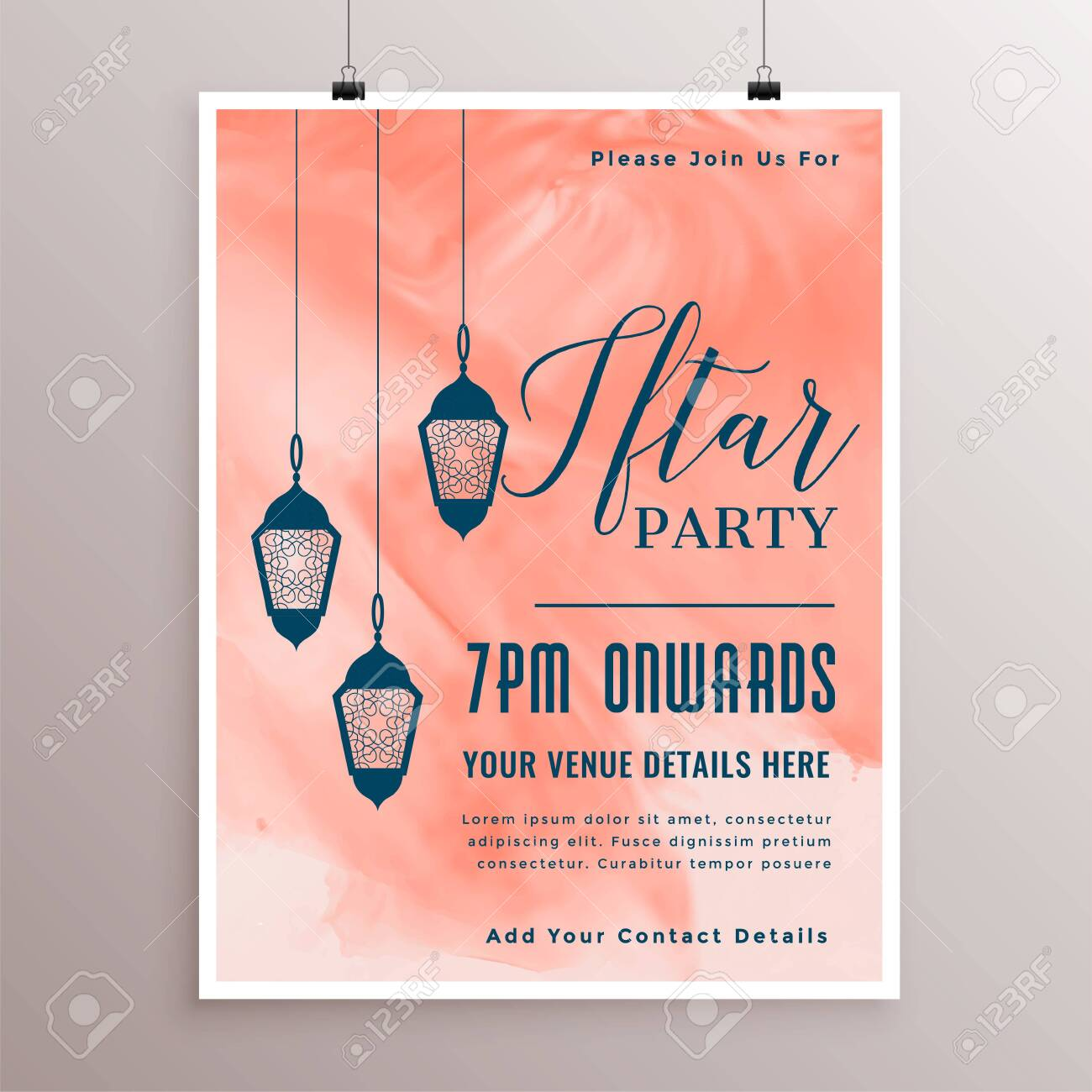 party invitation template for iftar time