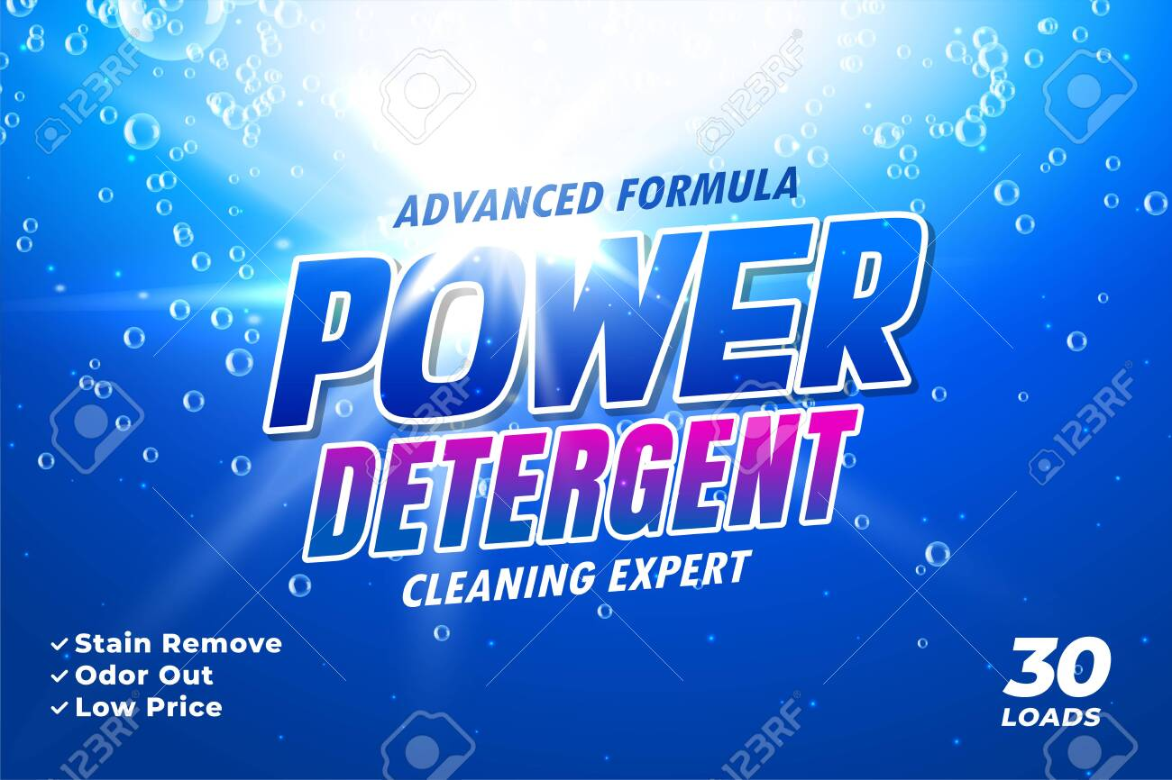 package design template for laundry detergent - 146198696
