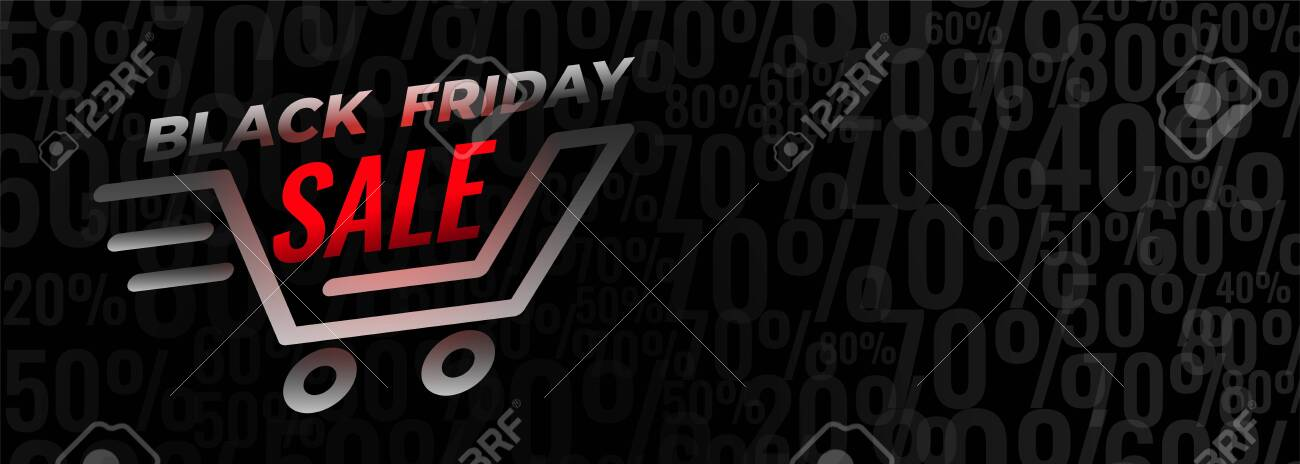 black friday shopping sale and discount banner design - 133159462