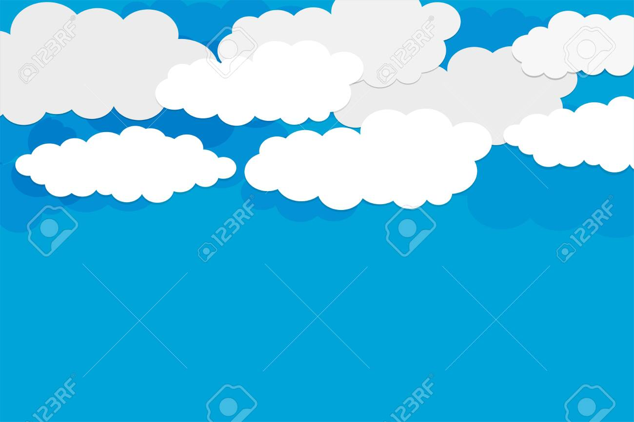 blue sky background with white clouds design - 139167373