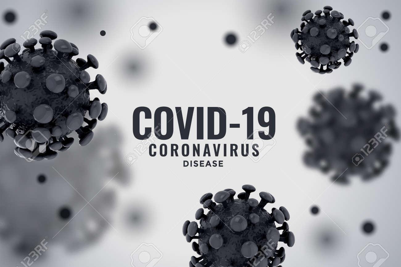 3d coronavirus infection spread covid-19 pandemic background - 143510811