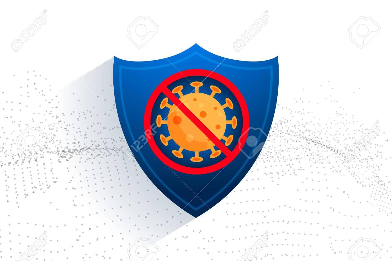 stop coronavirus protection sheild for medical purpose - 144853247