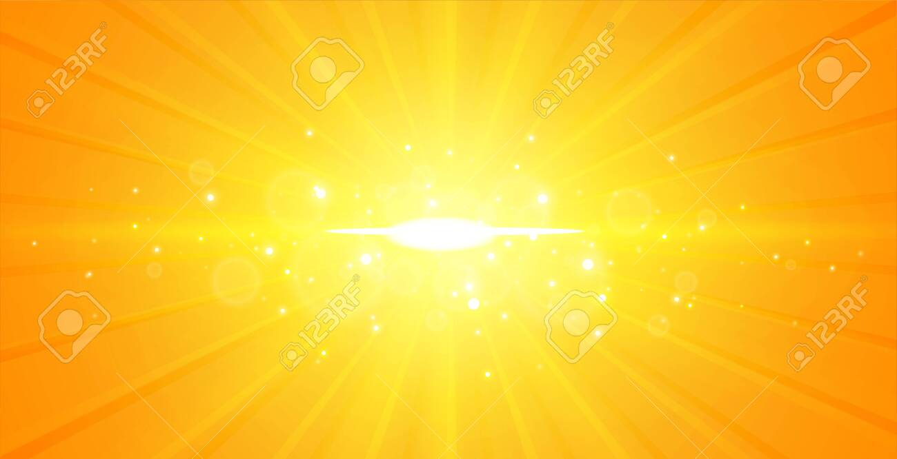 glowing center light rays yellow background design - 150751565