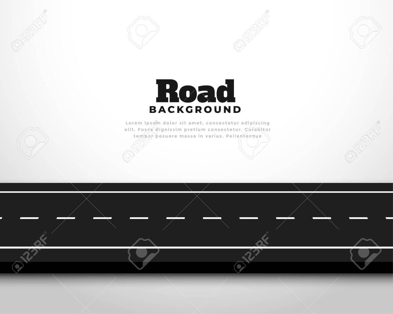 straight horizontal asphalt street road pathway background - 152978766