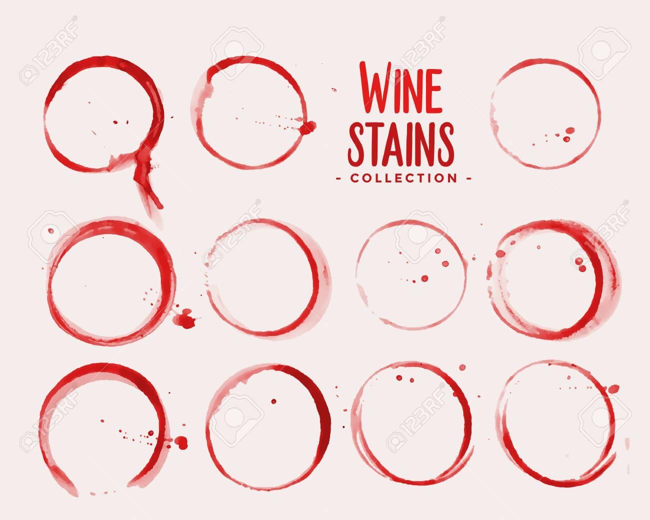 wine glass stain texture set design - 155093113