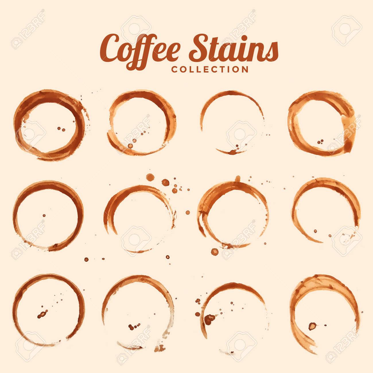coffee glass stain texture set of twelve - 157195257
