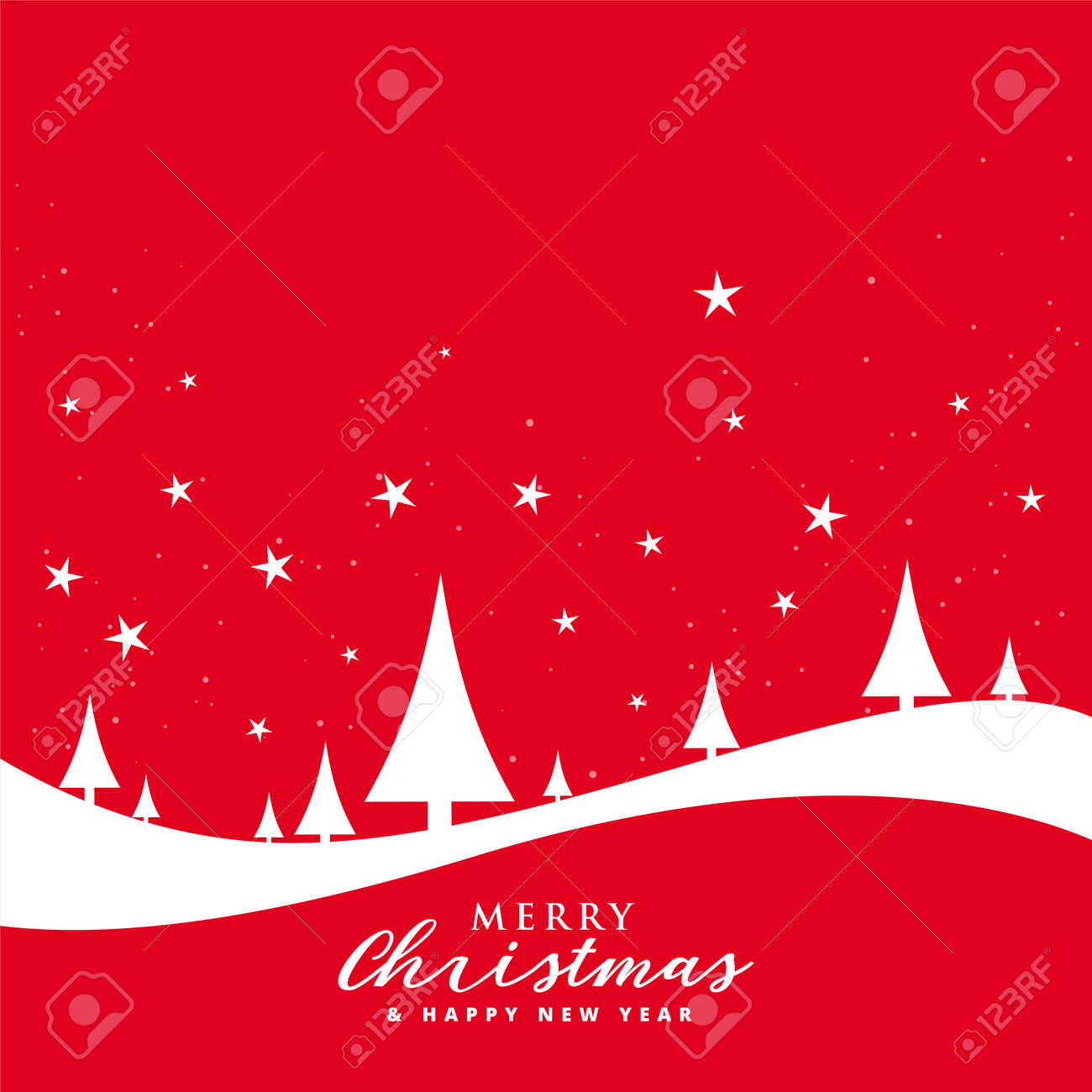 lovely merry christmas red flat style background - 159389036