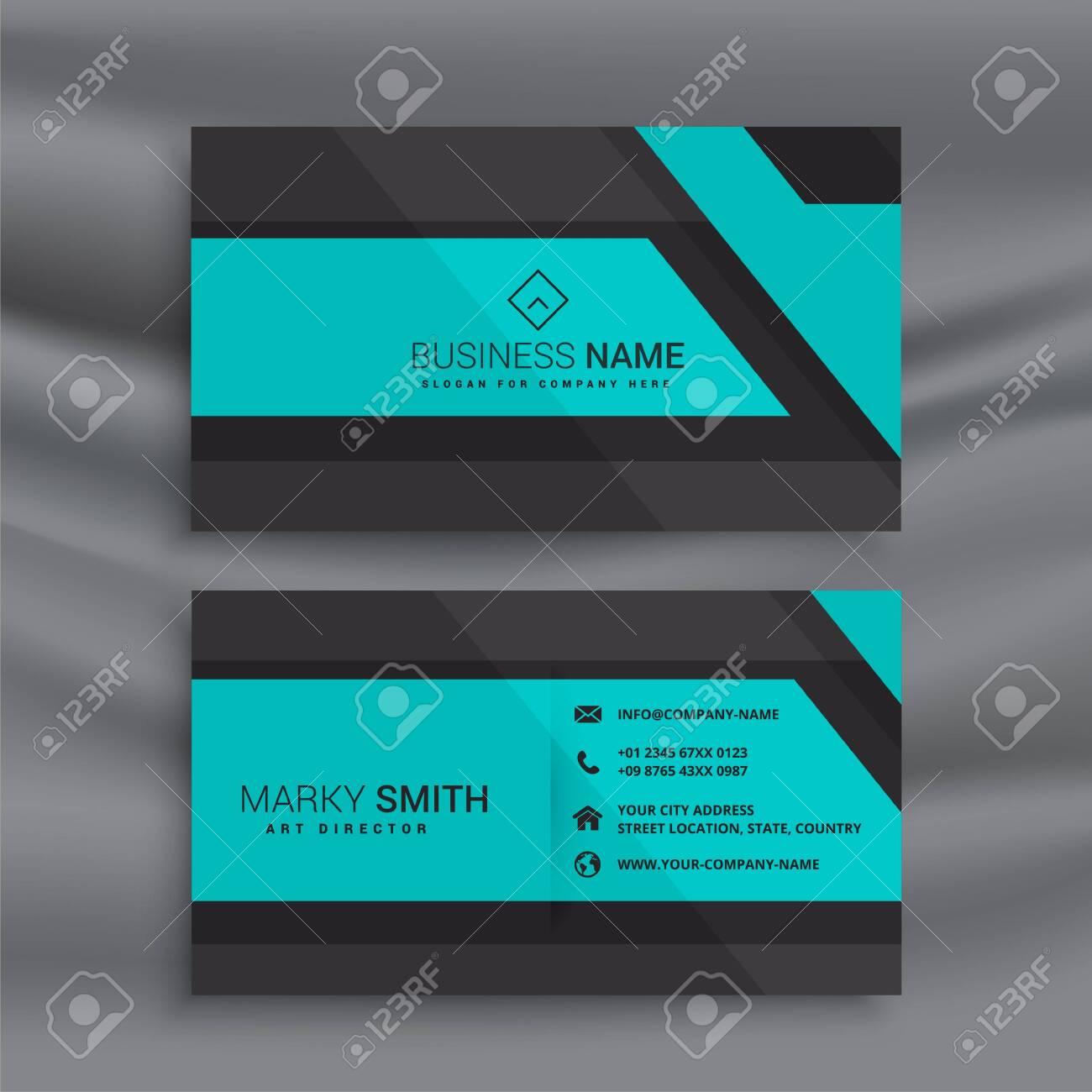 stylish blue business card design - 149023026