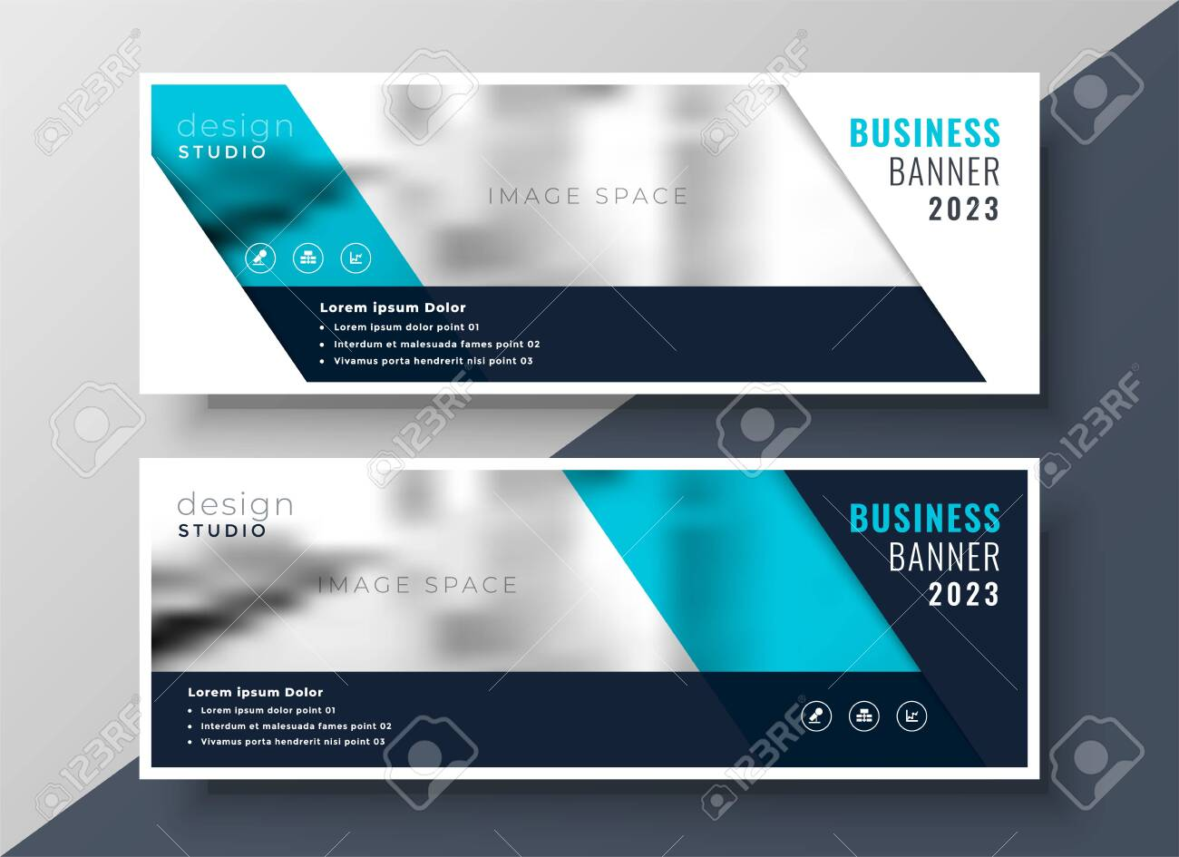 elegant business banner design with image space - 149166593