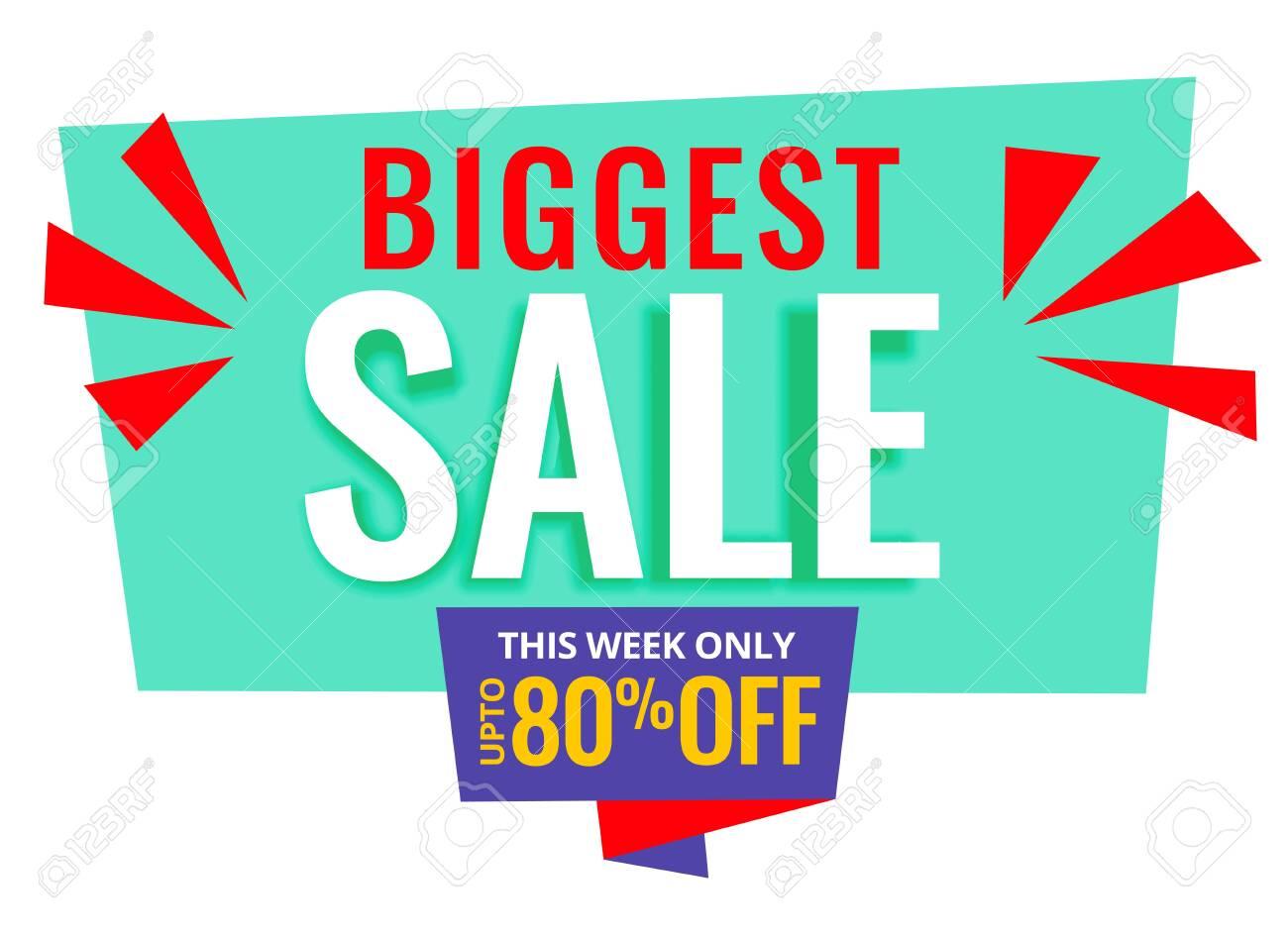 biggest sale promotional banner design - 149166796