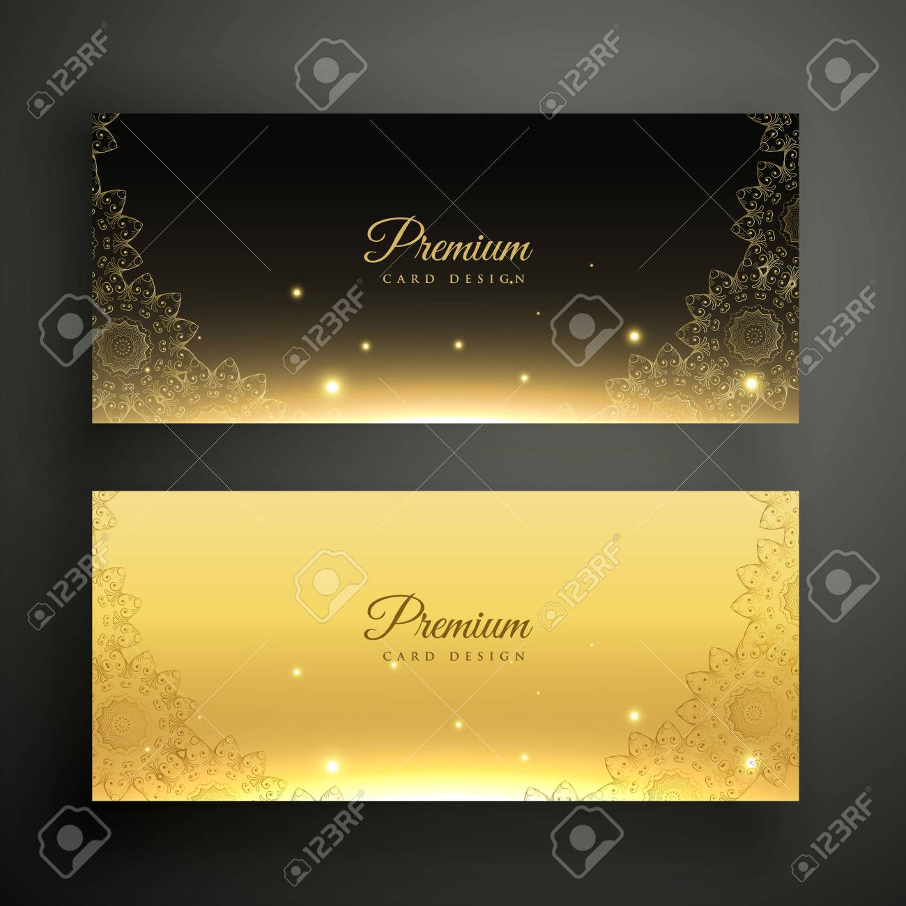black and golden ornamental decoration banners - 149169213