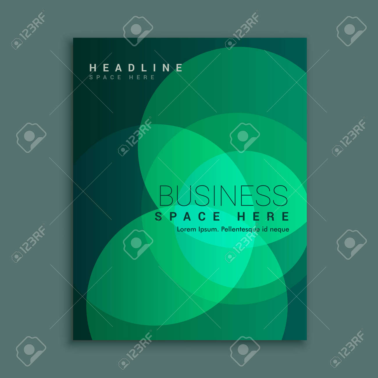creative brochure flyer design with vibrant colors template design illustration - 149211263