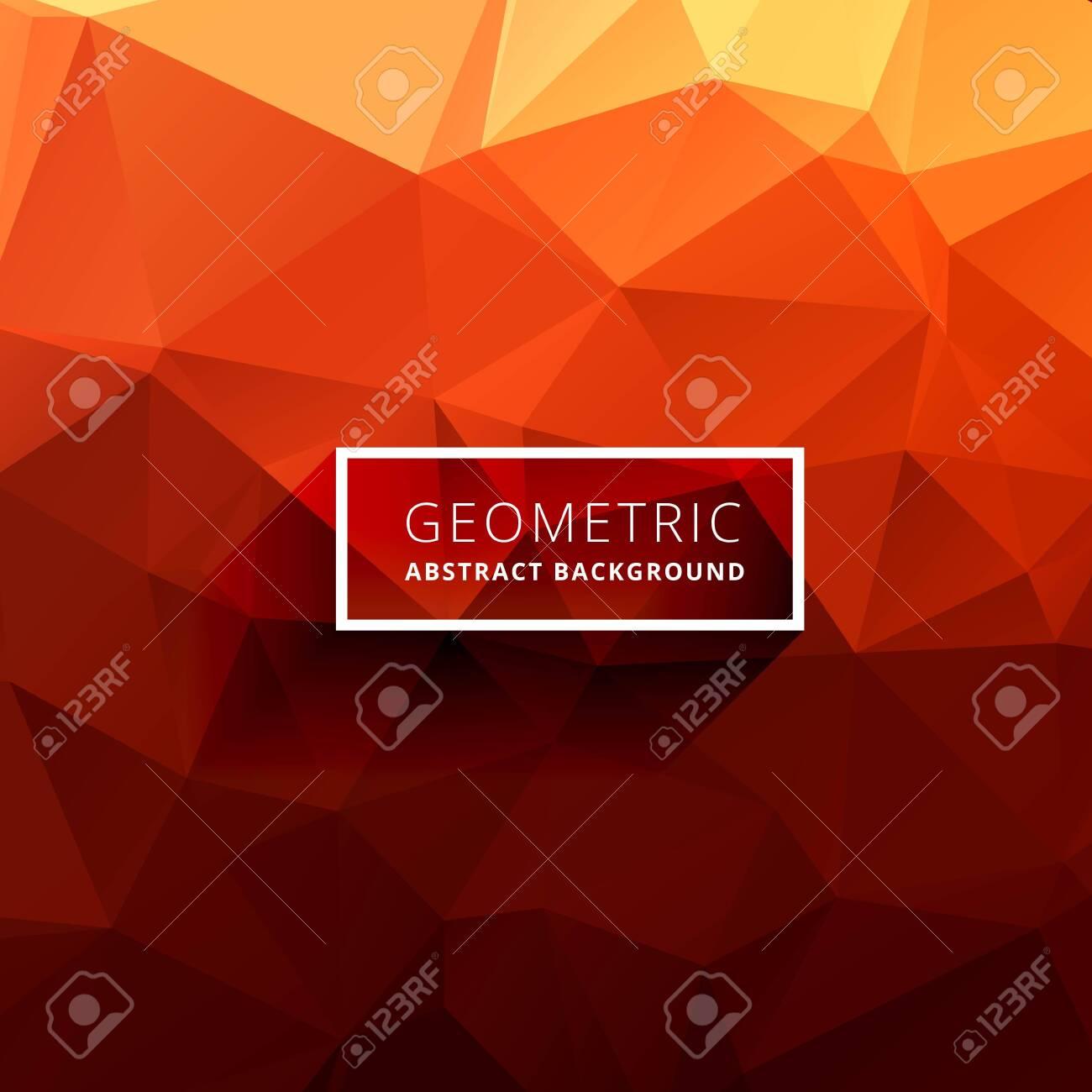 orange polygonal background - 153218338