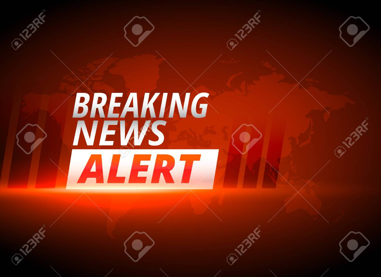 breaking news alert background in red theme - 149323195