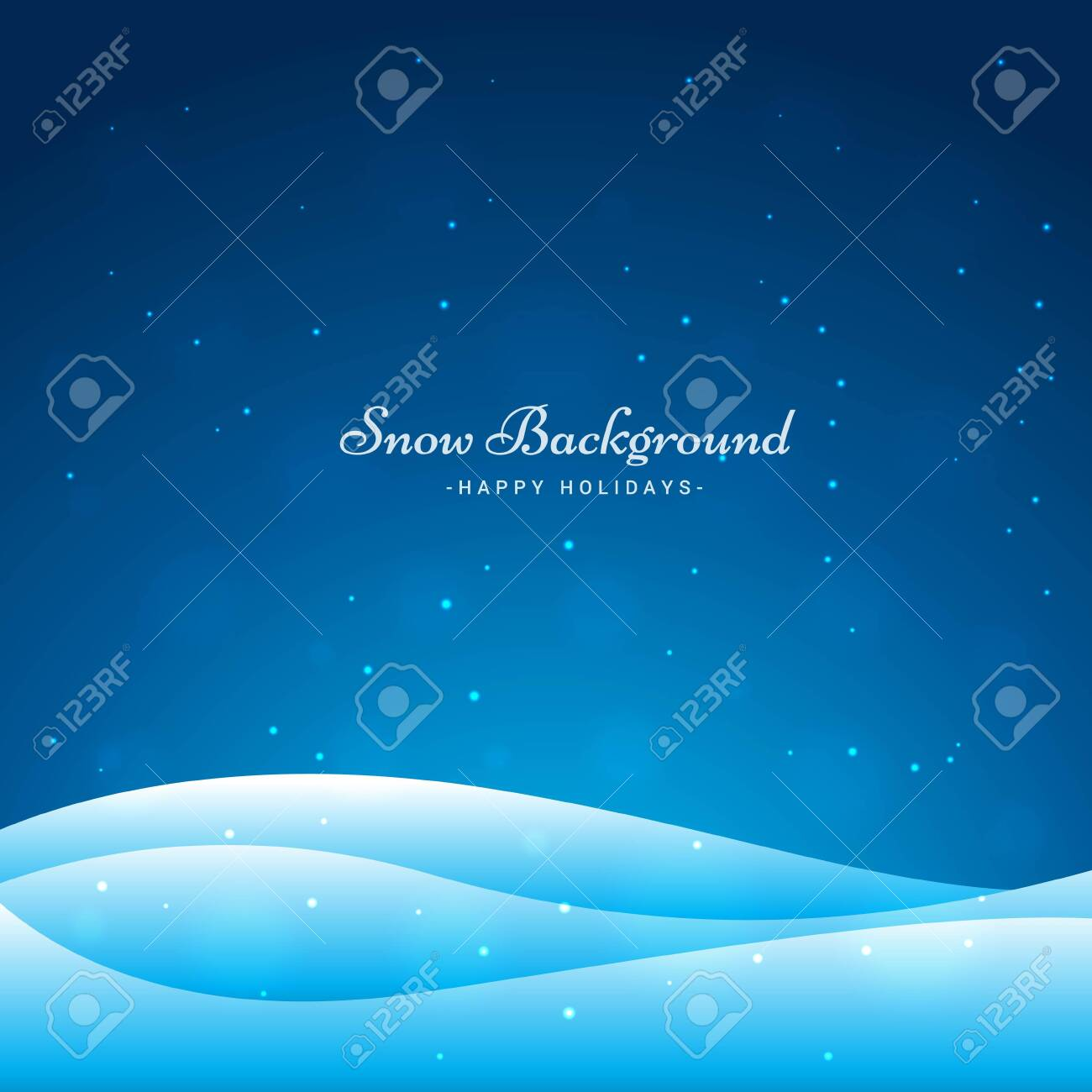 snow wave background vector illustration - 149698450