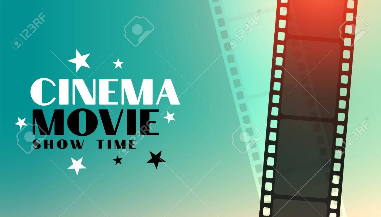 cinema movie background with film strip design - 150801030