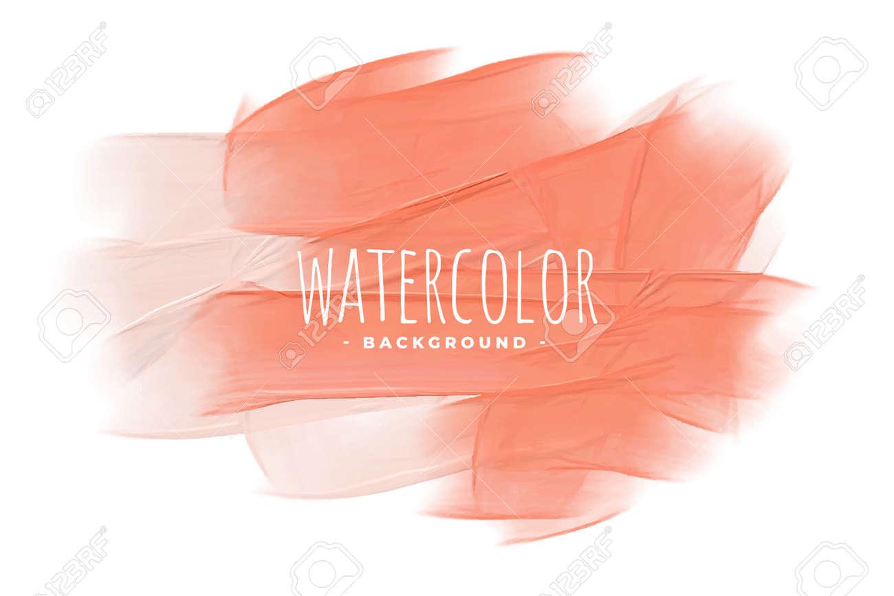 pastel peach pink orange watercolor texture background - 167909701