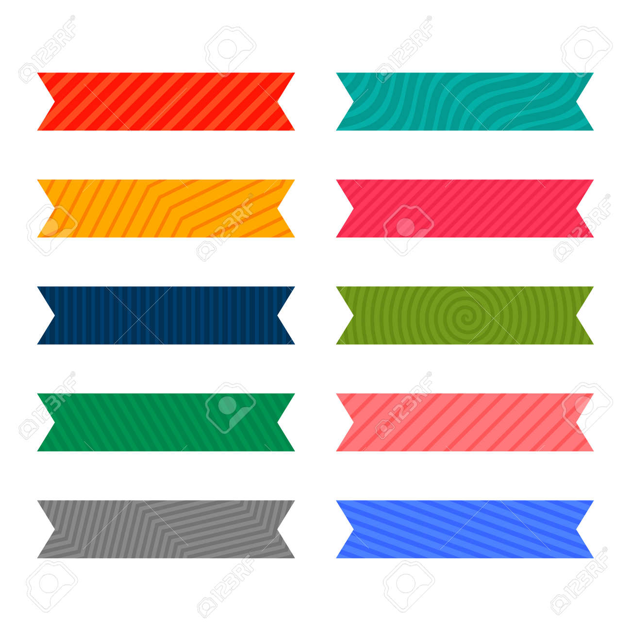 colorful adhesive pattern ribbon or tape set - 167909705