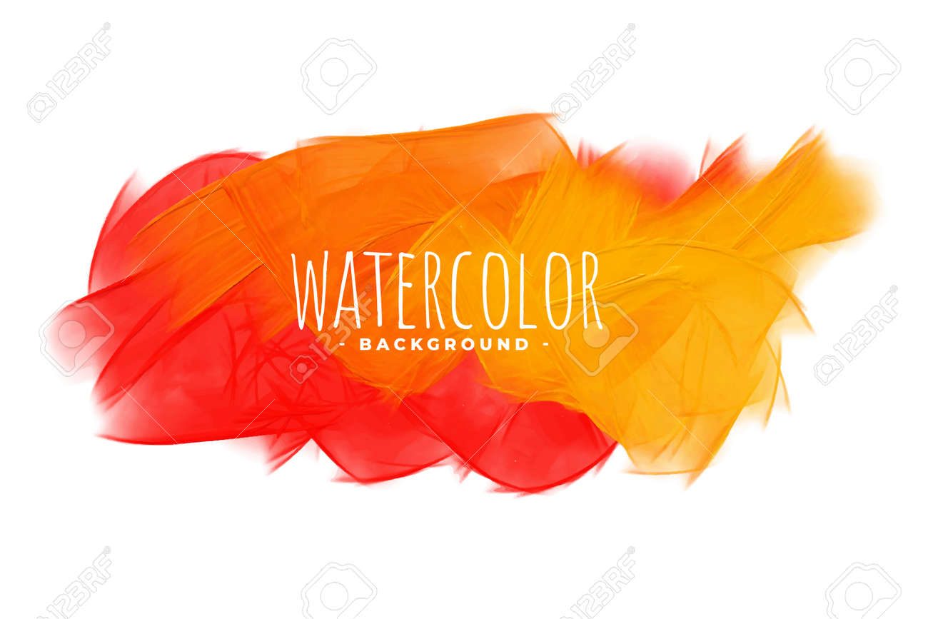 abstract orange shades watercolor texture background - 167909723