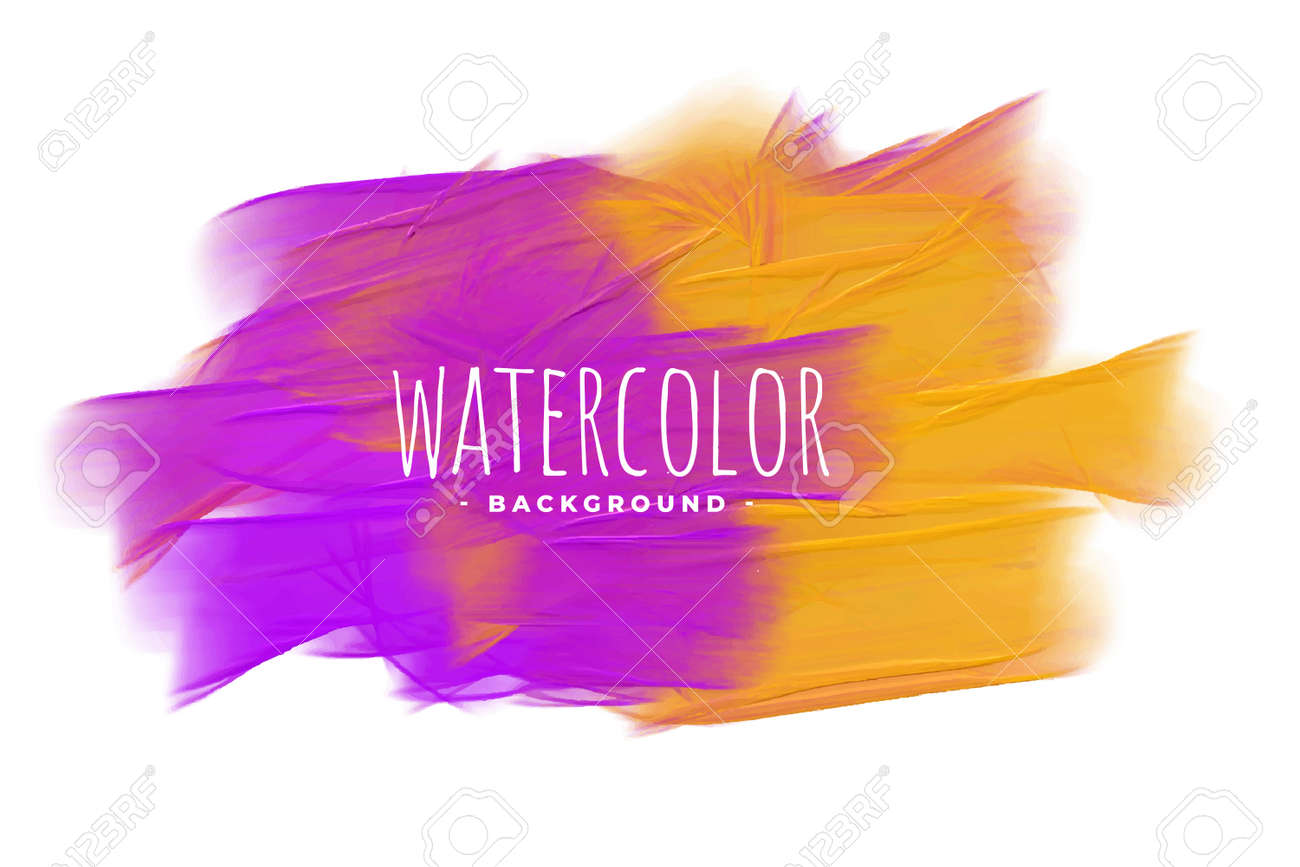 abstract purple and yellow watercolor texture background - 167909728