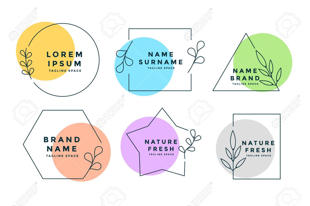minimalist logos or monograms set of six - 167909742