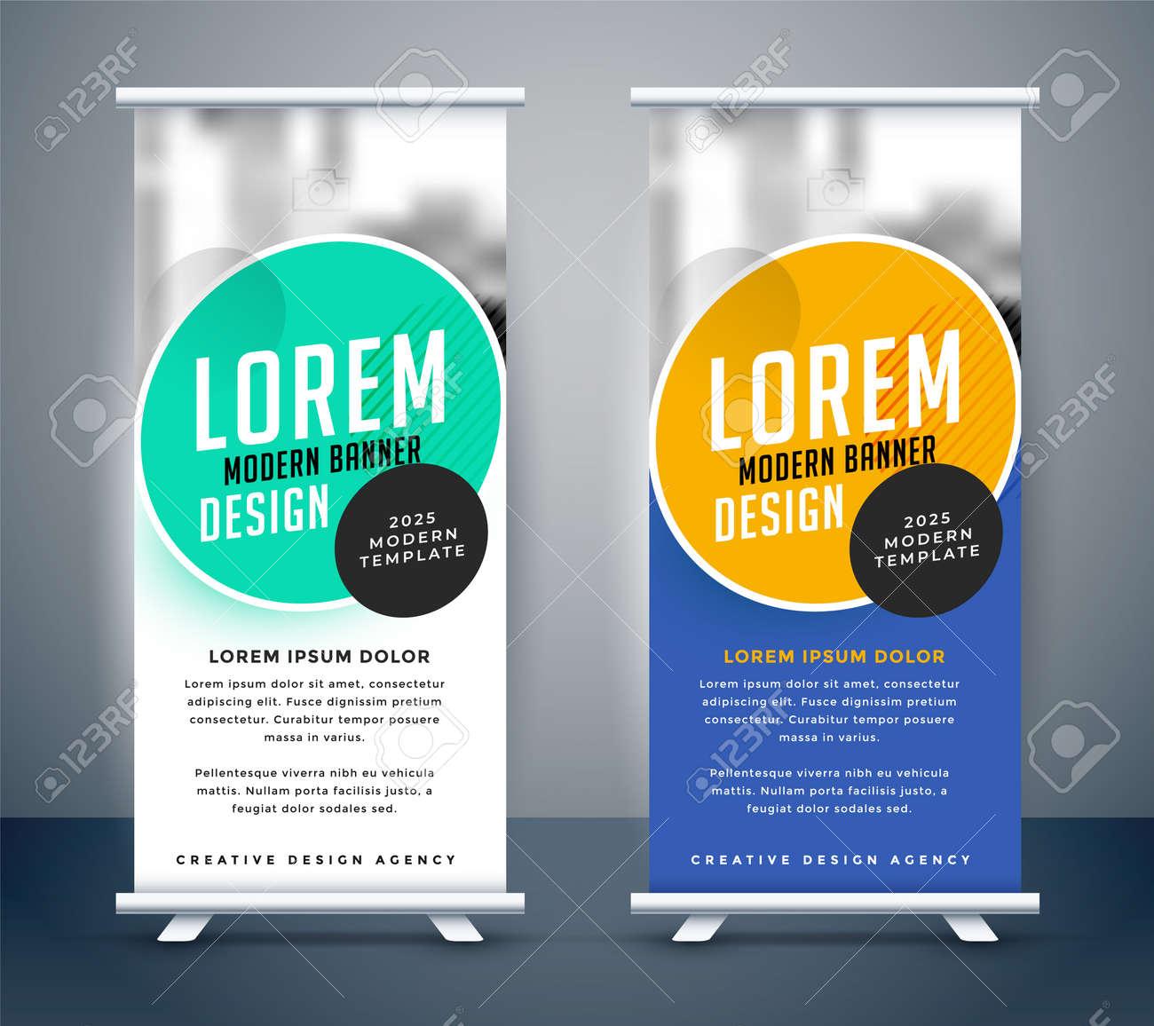 modern roll up standee banner template design - 167909841