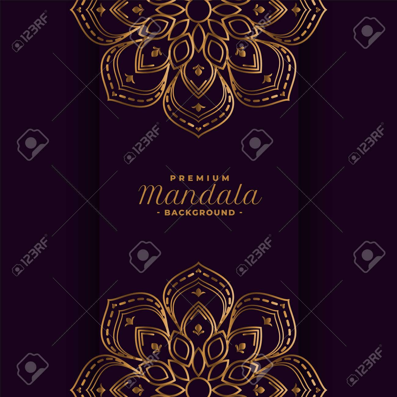 golden mandala decorative background design - 167909873
