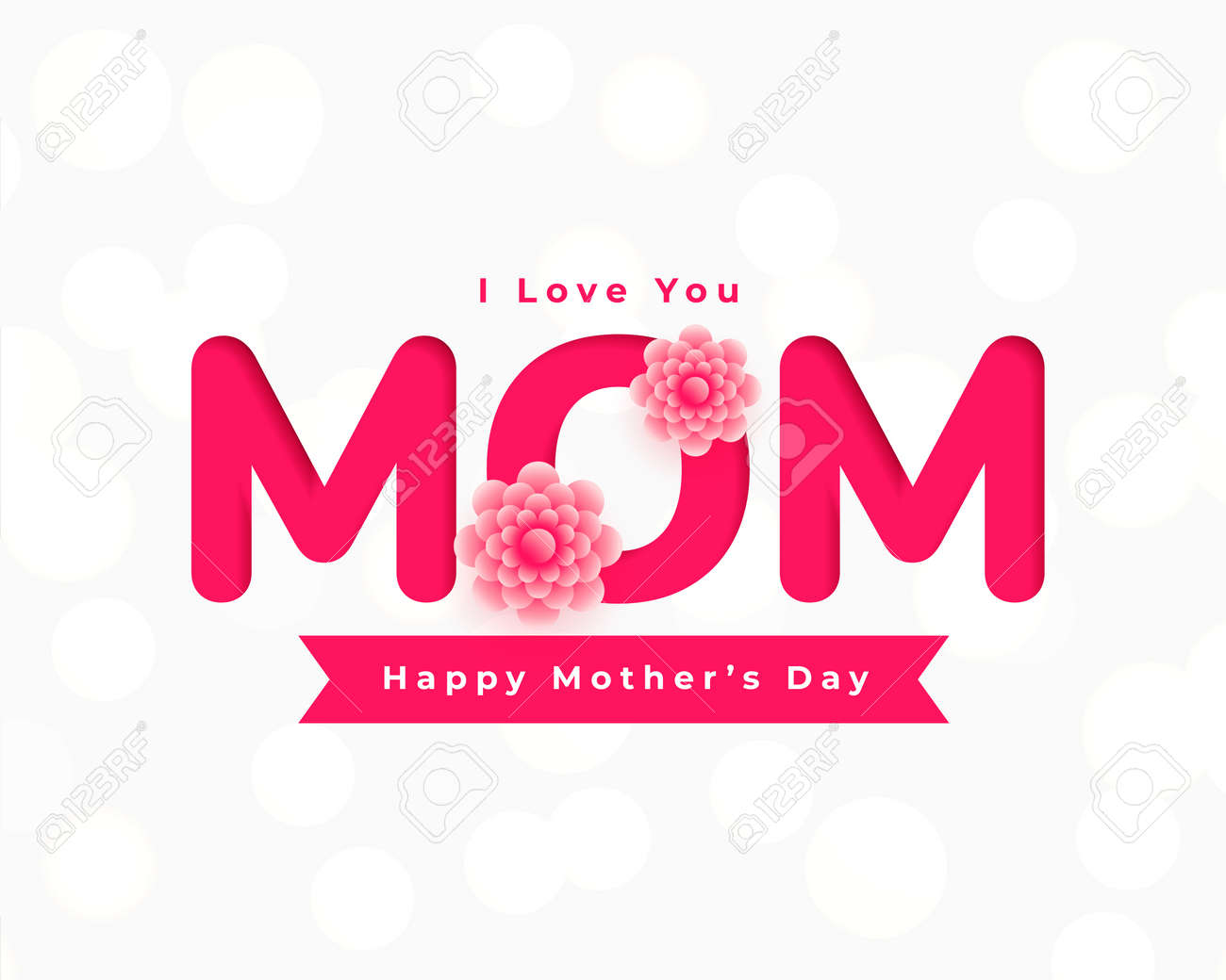 happy mothers day flower card greeting - 167909874