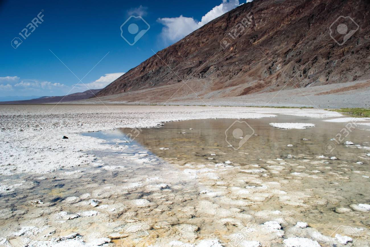 death valley national park,california,USA-august 3,2012  badwater,a salt flat under the sea level Stock Photo - 15219928