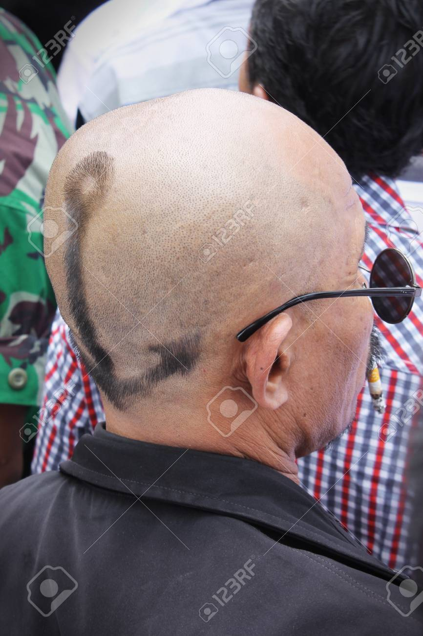 jakarta indonesia october 20 2014 baldy man with sun glasses