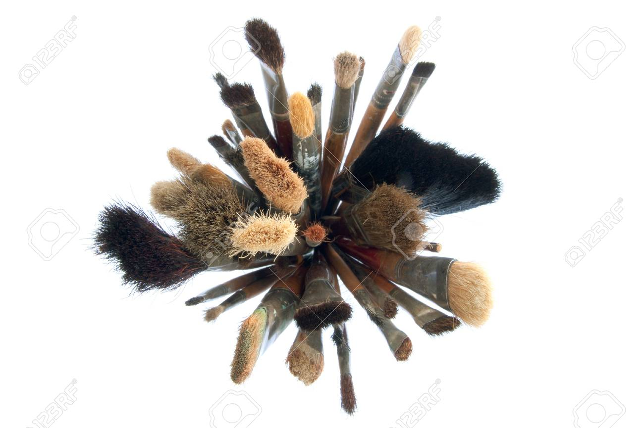 stack of different paintbrushes Stock Photo - 18610547
