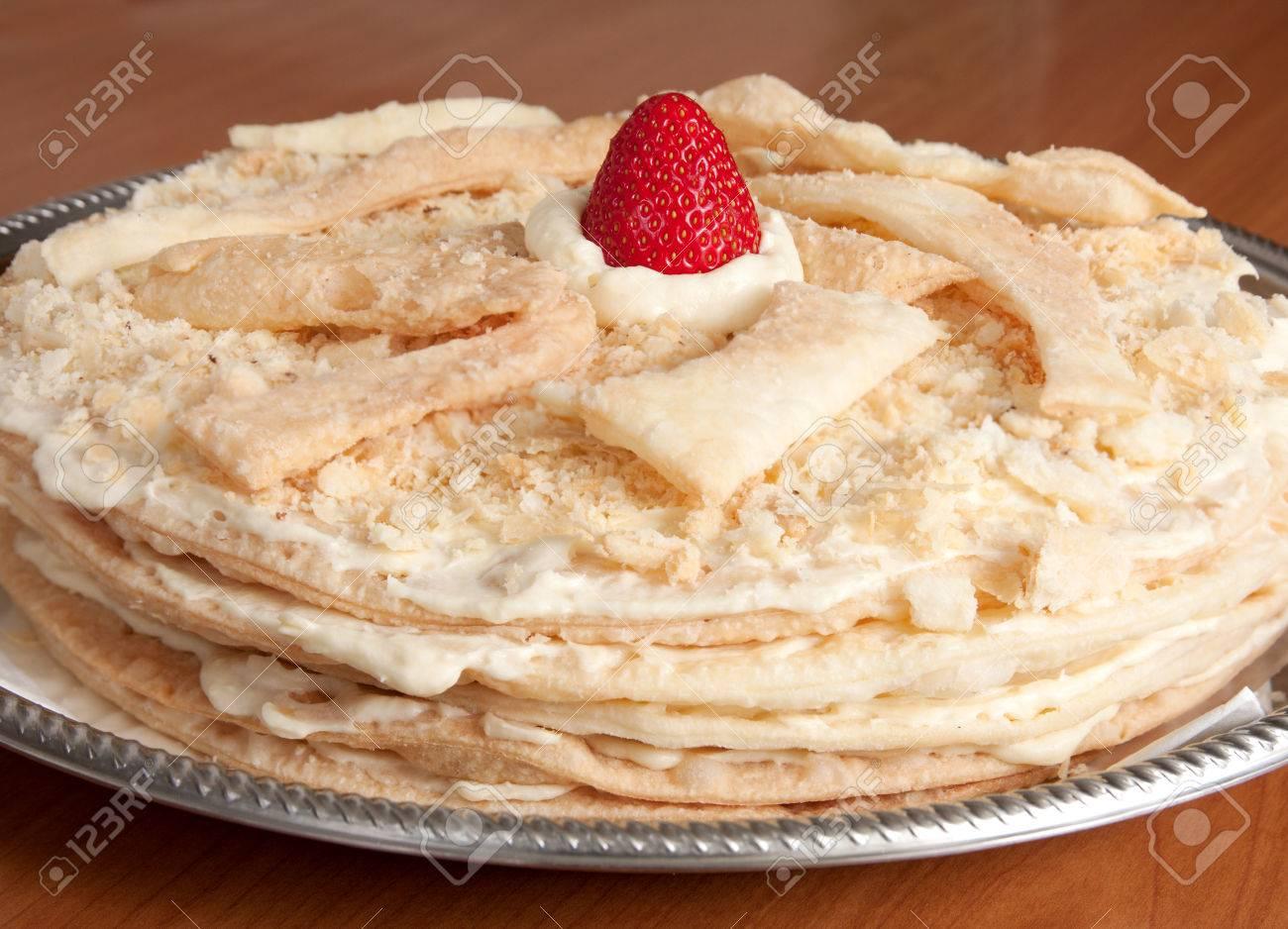 Napoleon Kuchen Eine Russische Variante Einer Franzosisch