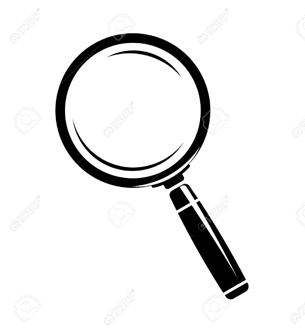 monochromatic magnifying glass icon royalty free cliparts vectors
