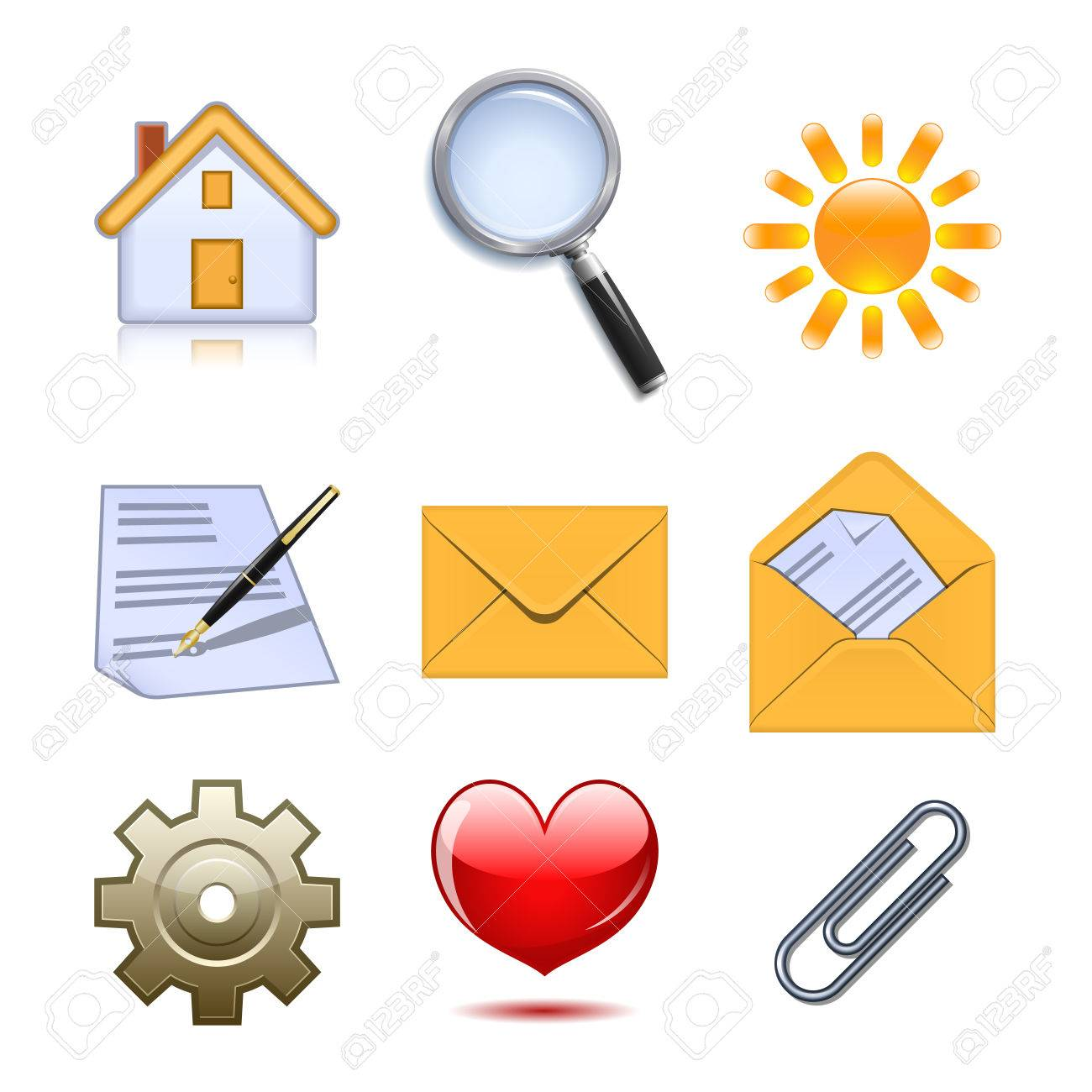 Set of useful web icons Stock Vector - 8893157