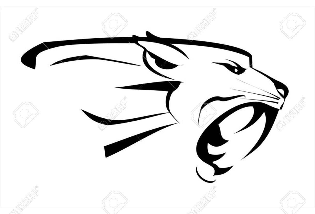ee7eb1c6670 jaguar head, roaring fang face. Fearless Puma. Roaring Predator. Roaring  cougar.