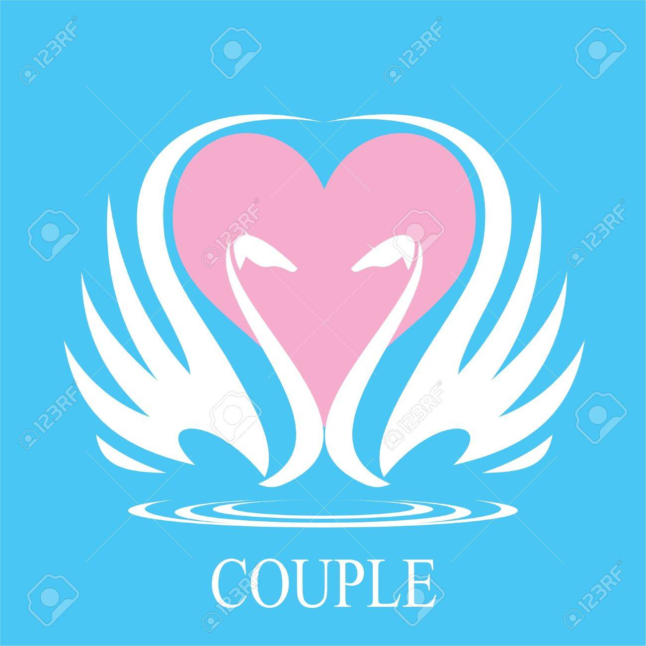 Swans and heart icon couple of swan swans in love suitable swans and heart icon couple of swan swans in love suitable for wedding stopboris Images