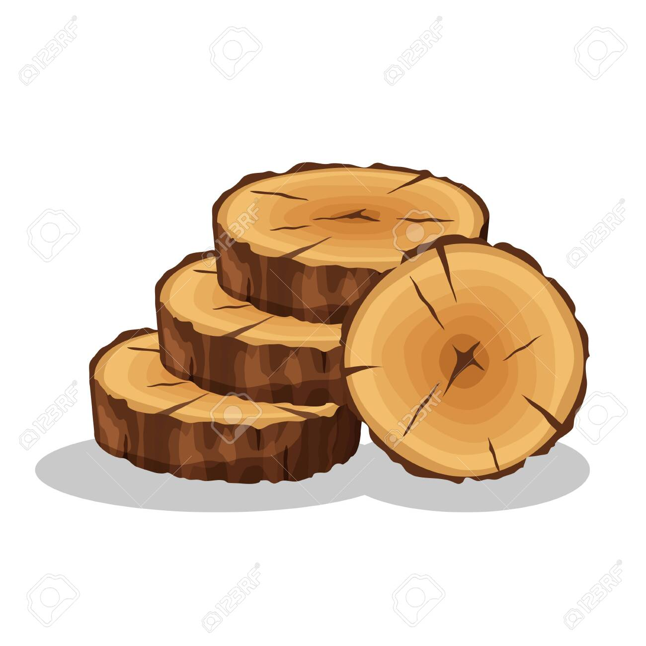 Cartoon Pile Of Tree Rings Isolated On White Background Wooden Royalty Free Cliparts Vectors And Stock Illustration Image 123983652 Find & download free graphic resources for tree rings. cartoon pile of tree rings isolated on white background wooden