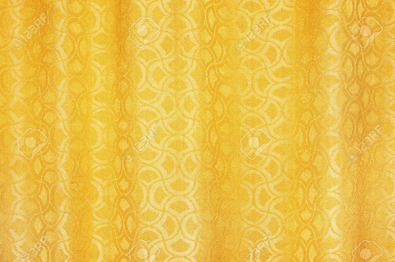 Curtains texture gold - Golden Colored Curtains Textured Background With Ornaments Stock Photo 667873