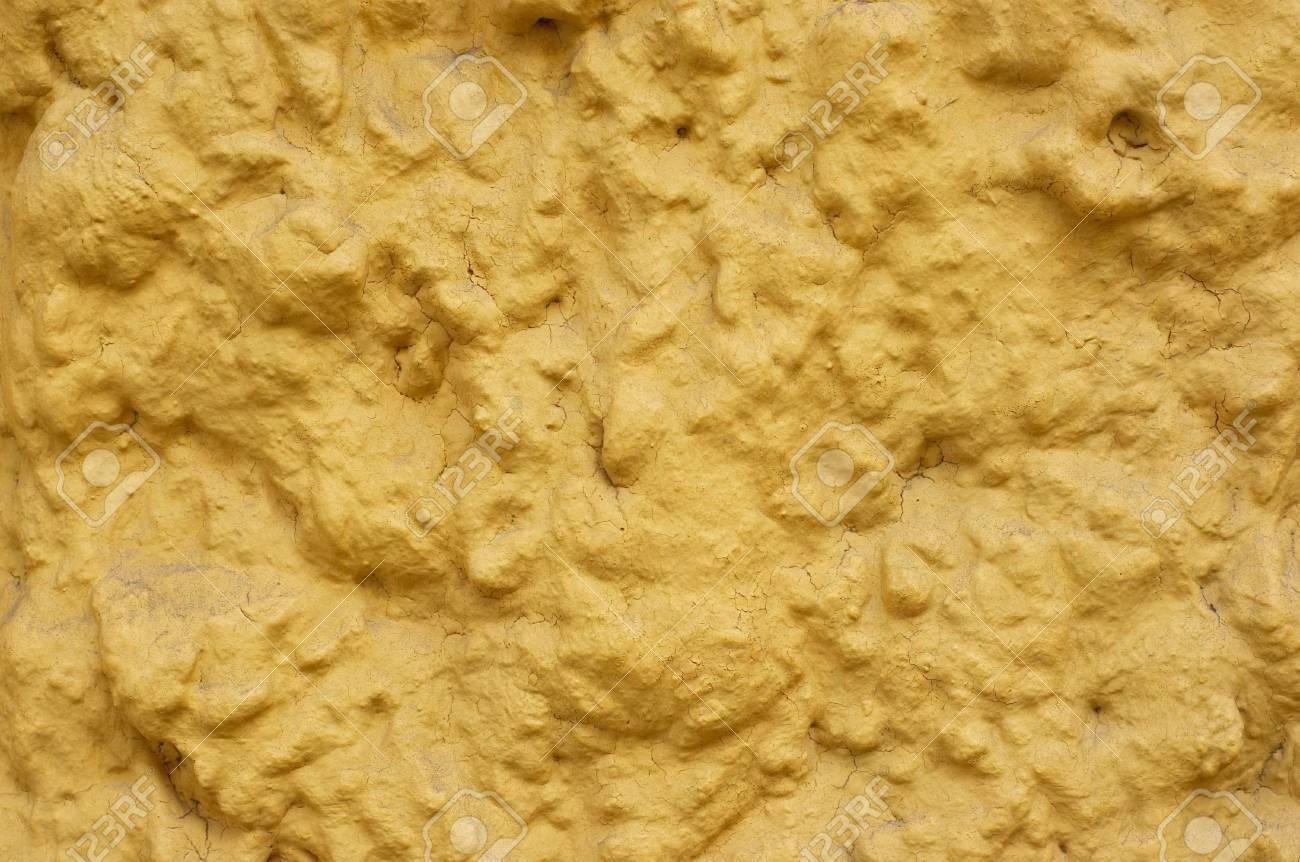 Yellow stained cement with patina and cracks. Grunge background. Stock Photo - 708044