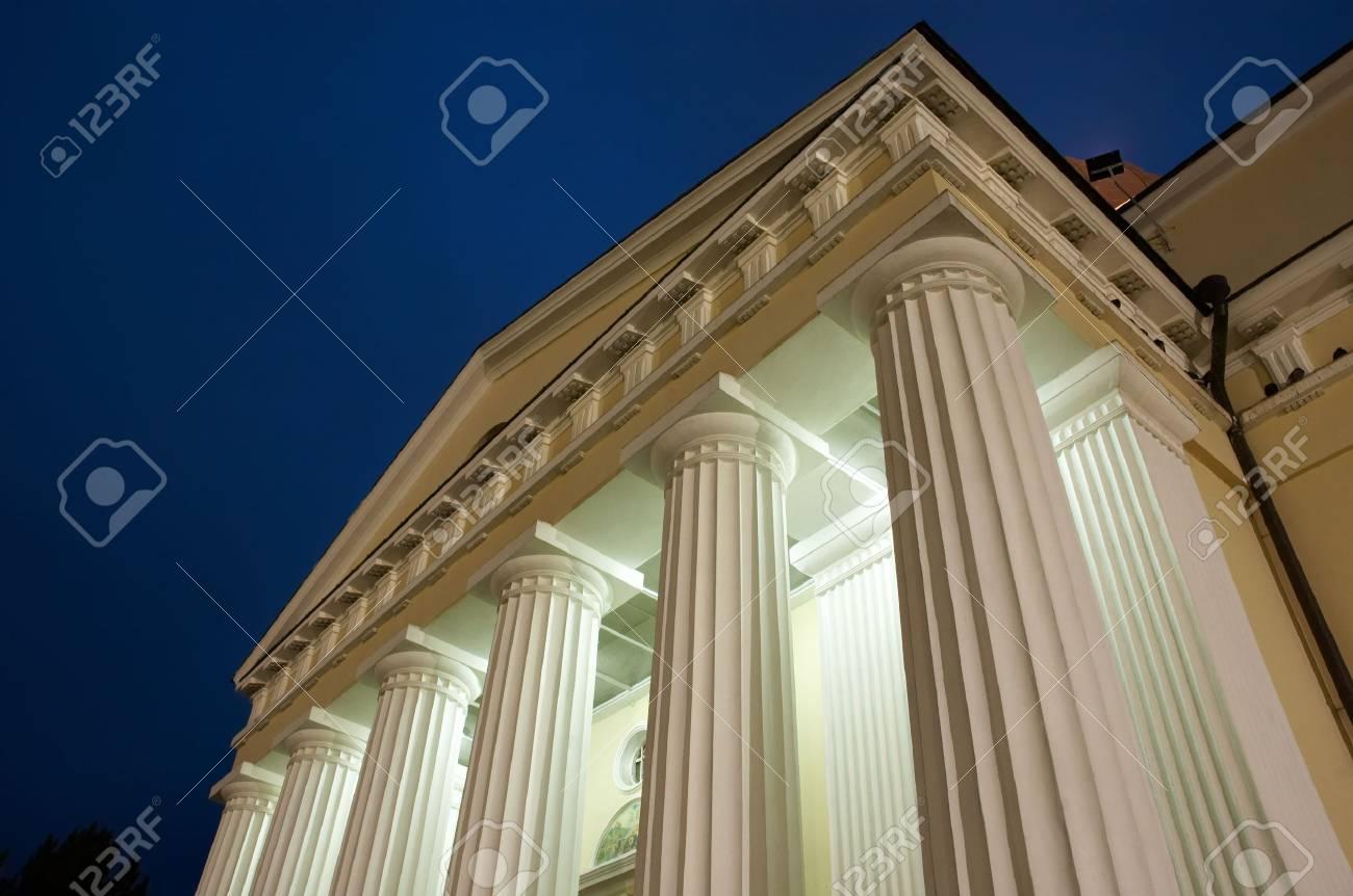illuminated columns - nightshot with dark blue sky. copyspace. Stock Photo - 2220013