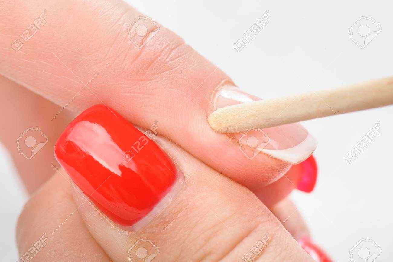 Nail Salon, Hands Beauty Treatment, Cuticles Care With Bamboo ...