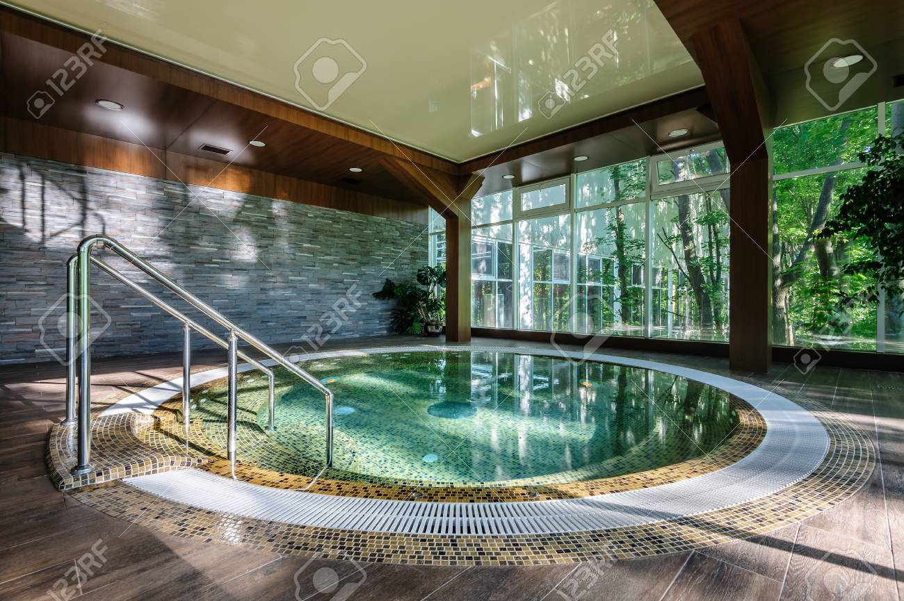Big Luxury Jacuzzi Tub Stock Photo, Picture And Royalty Free Image ...