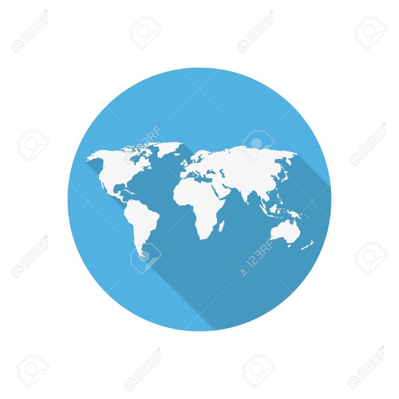 Icon world map on a blue circle in a flat design ilustraciones icon world map on a blue circle in a flat design foto de archivo 49503507 gumiabroncs Choice Image