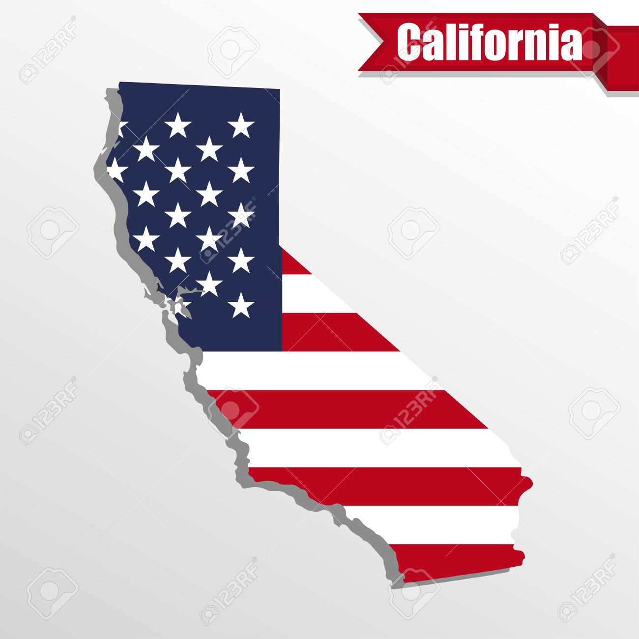California state map with us flag inside and ribbon royalty free california state map with us flag inside and ribbon stock vector 59467607 buycottarizona