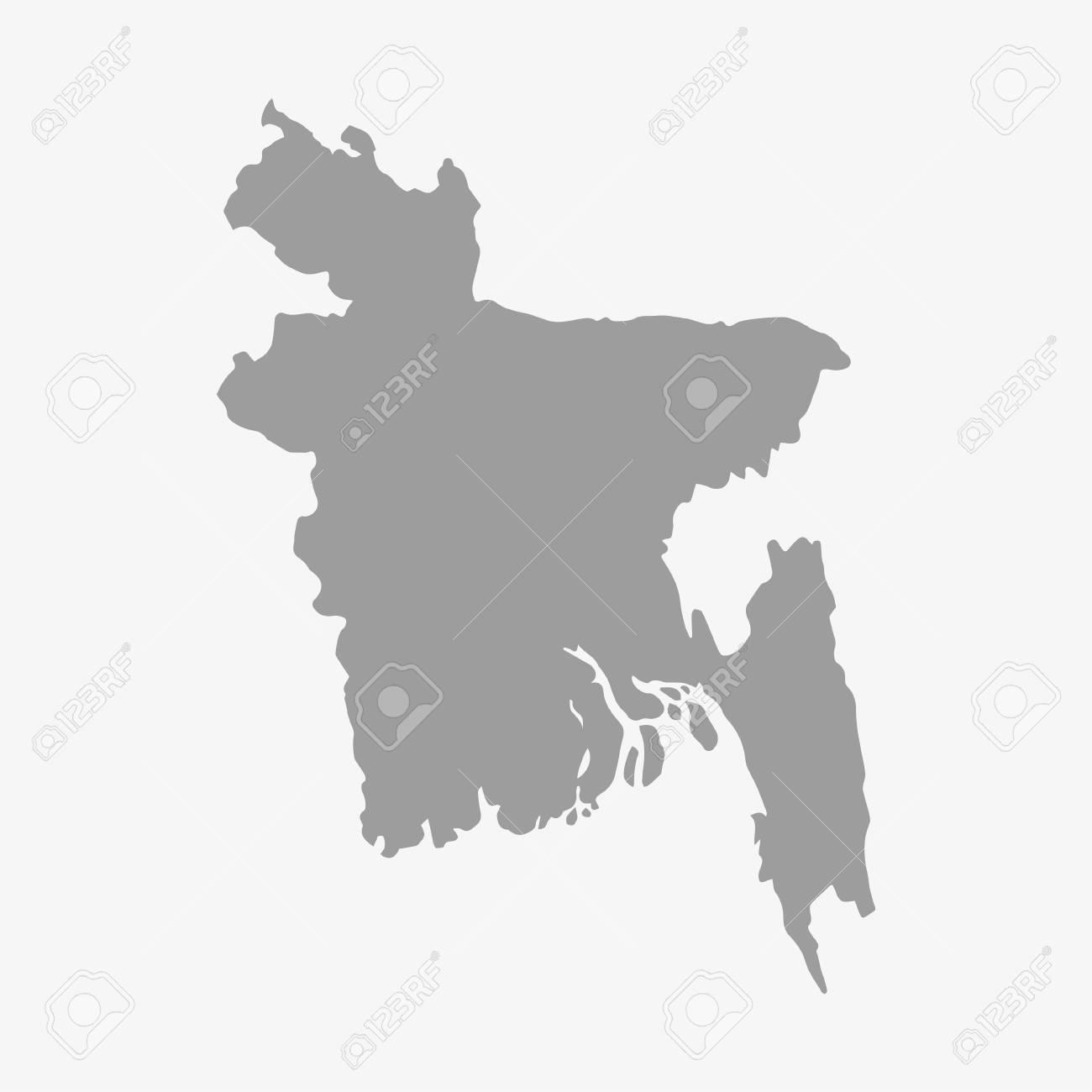 hd map of bangladesh Bangladesh Map In Gray On A White Background Royalty Free Cliparts hd map of bangladesh
